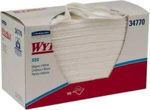 Wypall X60 1 4 Fold Shop Towel industrial Wipes Box 23 X 11 Sheet Size White