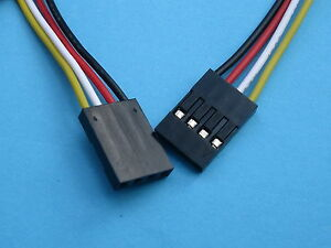 100 Pcs Pitch 2 54mm 4 Pin 26awg Jumper Wire Female To Female 4 Color 30cm 300mm