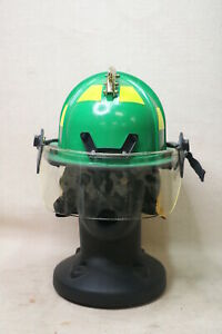 Morning Pride Ben2 Green Fire Firefighter Helmet Gold Eagle Eye Neck Shield Bf2