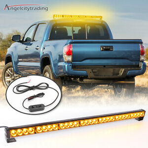 32 Emergency Warning Strobe Light Bar Hazard Flash Traffic Advisor Amber