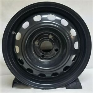 14 Inch 4 On 100 Black Steel Wheel Rim Fits Civic We72736t