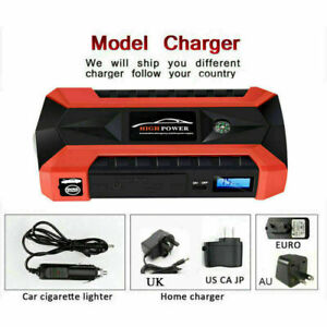89800mah 12v Car Jump Starter Pack Booster Charger Battery Power Bank Compass