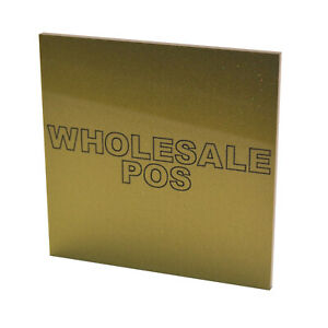 Perspex Gold Acrylic Sheet Duo 5yy9 3mm Thick Cut To Size Custom Panel