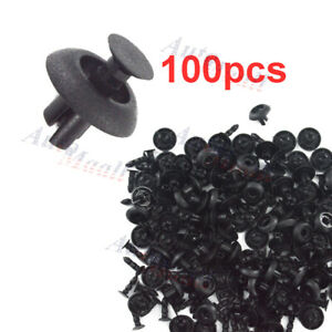 100pcs Engine Cover Radiator Grille Bumper Clips For Toyota Lexus Scion 7mm Hole