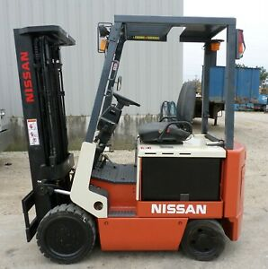 Nissan Cwp02l25s 2004 5000 Lbs Capacity Great 4 Wheel Electric Forklift