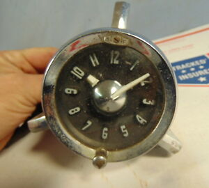 1954 1953 Era Accessory Clock Original Pontiac