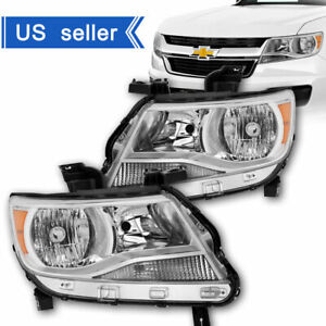 For 2015 2016 2017 Chevy Colorado Chrome Housing Headlights Headlamps Left Right