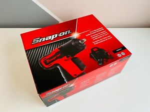 new Snap On 3 8 14 4v Red Microlithium Cordless Impact Wrench Kit Cteu761a