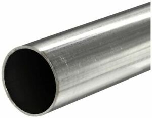 304 Stainless Steel Round Tube 1 2 Od X 0 049 Wall X 48 Long 3 Pack