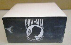 Pow Mia Your Are Not Forgotten Military Logo Non Adhesive Cube Note Pad 4 x4 x2