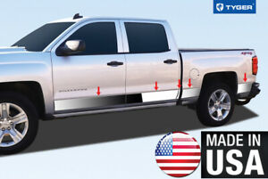 Chrome Accessories Lower Rocker Panel Trim Fit 14 18 Chevy Silverado Dually 10p