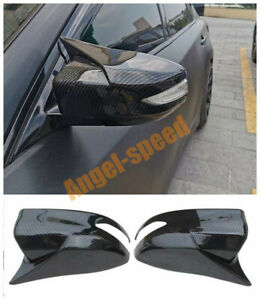 Carbon Fiber Style Rear View Mirror Cover For Nissan Altima 2013 2016 2017 2018