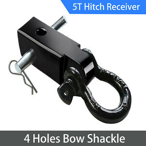 Orcish Recovery Trailer Hitch Shackle Bracket 2 Receiver 5t 3 4inch D Ring 4wd