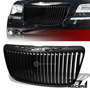 For 2011 2014 Chrysler 300 300c Matte Black Vertical Front Bumper Grill Grille