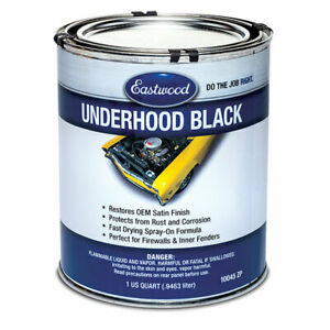 Eastwood Acrylic Anti Rust Corrosion Underhood Black Paint 1 Quart