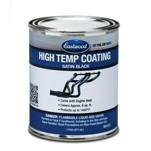 Eastwood Satin Black High Temperature Exhaust Coating Paint 1 Pint 10133z