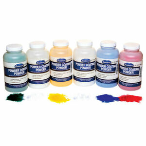 Eastwood 6 Piece 8 Oz Powder Coat Standard Color Sample Kit Tapes Plugs Caps