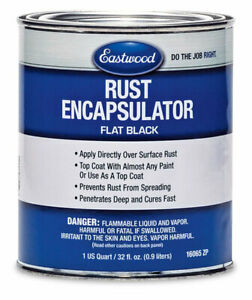 Eastwood Black Rust Encapsulator Paint Over 1 Quart Uv Heat Corosian Resistance