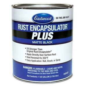 Eastwood Matte Black Rust Encapsulator Plus 1 Gallon Long Lasting Heat Resistant