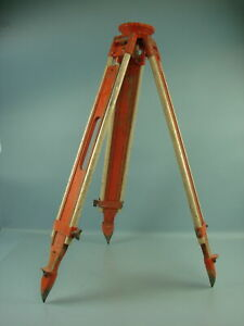 David White Wood Metal Surveying Instrument Tripod Stand Equipment Orange