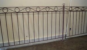 Antique Wrought Iron Fencing 320 Linear Foot 5ft Blacksmith Forged Rolled
