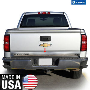 Chrome Accessories Tailgate Trim W Logo Cutout Fit 14 18 Chevy Silverado Lt