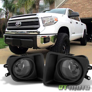 Smoked For 2014 2018 Tundra Bumper Fog Lights Lamps W switch bracket Left right