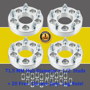 4 For Jeep Liberty 1 25 5x4 5 To 5x5 Wheel Spacers 71 5mm 1 2x20 Studs