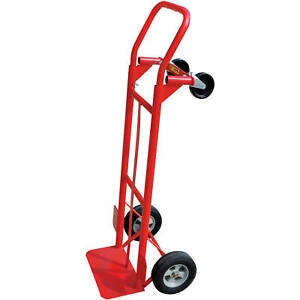 Hand Truck 600 Lb Capacity 2 in 1 Convertible Dolly Trolley Moving Cart