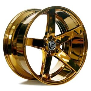 20x8 5 Ac Wheels Ac607 Platinum Gold Rims