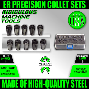 12pc Er16 Inch Collet Set