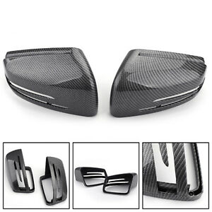 Carbon Fiber Door Mirror Cover Cap Casing For Benz C E S Gl Class W204 W221 Us
