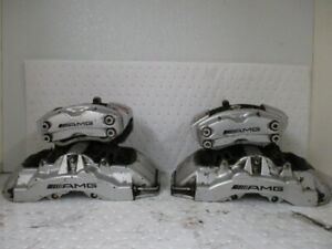 05 06 Mercedes Cl65 Silver Powder Painted Set Of 4 Amg Brembo Calibers 101k Oem
