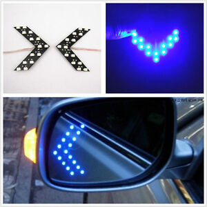 2x Arrow Indicator 14smd Led Car Auto Rearview Side Mirror Turn Signal Light