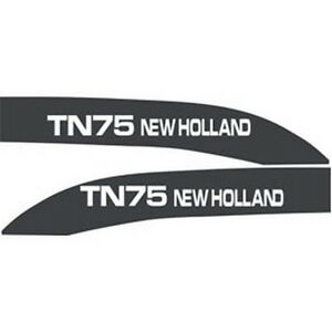 New Tn75 New Holland Tractor Hood Decal Kit Tn75 High Quality Hood Decals