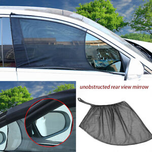 2x Auto Sun Shade Front Window Screen Cover Sunshade Protector For Car Black Ap
