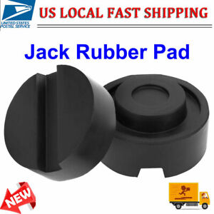 2pc Universal Floor Jack Disk Rubber Pad Adapter Lifting Car Support Pad Us