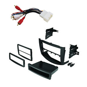 Radio Replacement Dash Mounting Kit 1 Or 2 Din With Amp Harness For Toyota Rav4