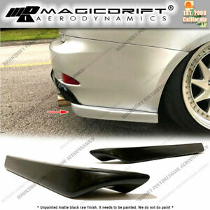 For 06 13 Lexus Is250 Is350 Pair Of Mda Rear Aprons Bumper Lip Spats Splitters