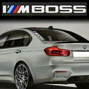 1pcs For Bmw Performance I M Boss Side Windshield Decal Windows Sticker Graphic