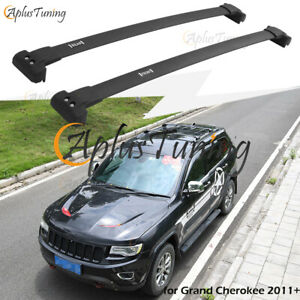Us Stock Cross Bars Roof Rack Fit For 2011 2021 Jeep Grand Cherokee Black