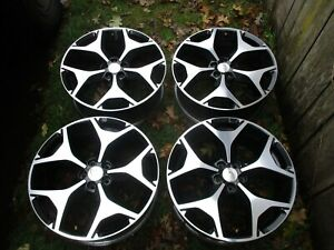 18 Subaru Forester Oem Factory Black Machined Wheels Rims 2009 2018 68815