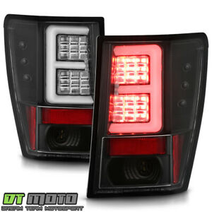 2007 2008 2009 2010 Jeep Grand Cherokee Black Led Tube Tail Lights Brake Lamps