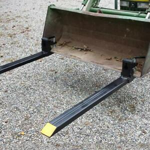 Big Discount 43 3500lb Clamp On Pallet Forks Loader Bucket Skidsteer Tractor Us