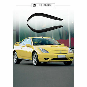2pcs 3d In channel Rain Guard Vent Shade Window Visors For Toyota Celica 2 door