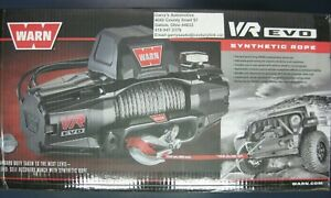 Warn 103251 Vr Evo 8 S 8000lb Winch 12v Hawse Fairlead 90 3 8 Synthetic Rope