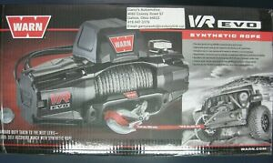 Warn 103253 Vr Evo 10 s 10000lb Winch 12v Hawse Fairlead 90 3 8 Synthetic Rope