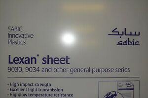 Lexan Sheet 3 16 Clear 48 X 16