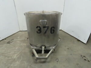 Stainless Tank 110 Gallon Heated Water Jacketed Tank W heater Lid 120v 30a