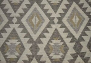 Bonanza Silver Cloud Grey Taupe Heavy Southwest Upholstery Fabric $15.00